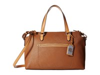 Lauren Ralph Lauren Lindley Addie Satchel Luggage Satchel Handbags Brown