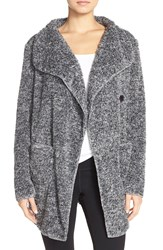 Pj Salvage Marled Cardigan Charcoal