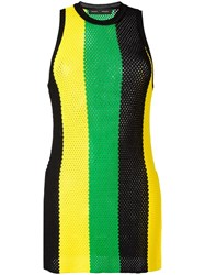 Proenza Schouler Striped Mesh Tank Top Yellow