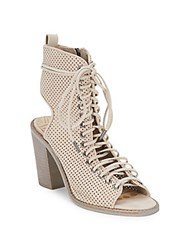 Dolce Vita Lira Sand Perforated Leather Ankle Boots Black