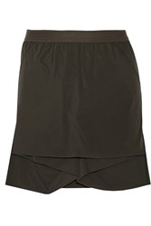 Rick Owens Lotus Layered Satin Twill Shorts Brown