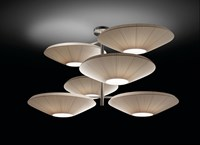 Bover Siam 6 Luces Pendant Cream Red White