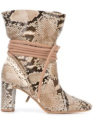 Alexandre Birman 'Betsy' Boots Nude And Neutrals