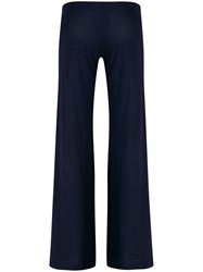 Fisico Ribbed Flared Trousers Blue