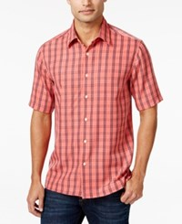 John Ashford Men's Fisher Plaid Short Sleeve Shirt Only At Macy's Starfish