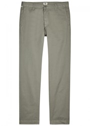 Citizens Of Humanity Davis Light Sage Tapered Cotton Chinos Light Green