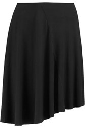 Bailey 44 Asymmetric Jersey Mini Skirt Black