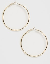 French Connection Classic Hoop Earrings Gold
