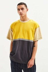 Urban Outfitters Uo Colorblocked Dad Tee Yellow