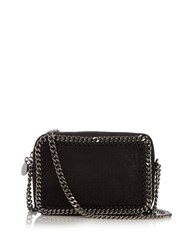Stella Mccartney Falabella Camera Faux Suede Cross Body Bag Black