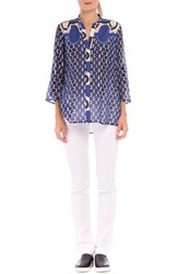 Women's Olian 'Audrey' Silk Maternity Shirt