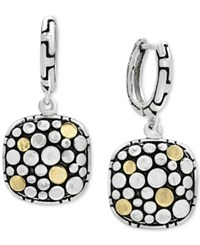 Effy Two Tone Dotted Drop Earrings In Sterling Silver And 18K Gold