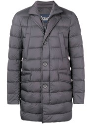 Herno Padded Straight Fit Jacket Grey