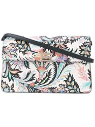 Etro Paisley Print Shoulder Bag Women Leather One Size White