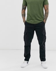 Only And Sons Tapered Fit Cargo Trousers In Black