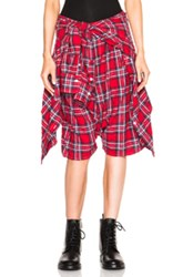 R 13 R13 Vedder Shorts In Checkered And Plaid Red