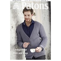 Patons Yarn Diploma Gold 4 Ply Men's Cardigan Knitting Pattern 4047