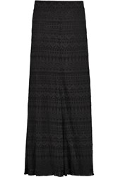 Isabel Marant Tory Embroidered Georgette Maxi Skirt Black