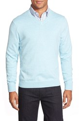 Nordstrom Men's Big And Tall V Neck Sweater Blue Skyway Heather