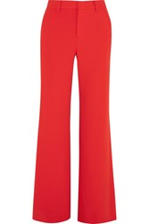 Alice Olivia Paulette Crepe Wide Leg Pants Red