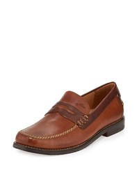 Tommy Bahama Finlay Leather Penny Loafer Saddle Brown