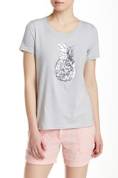 Tommy Bahama Presley Sequin Pineapple Tee Gray