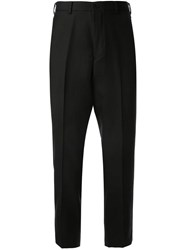 Loveless Cropped Tapered Trousers Black