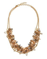 Greenbeads By Emily And Ashley Multi Strand Cluster Bib Necklace