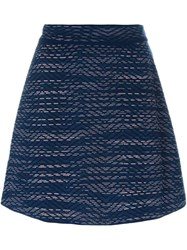 M Missoni Short A Line Skirt Blue