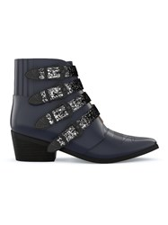 Toga Pulla Buckled Western Booots Black