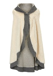 Betty Barclay Faux Fur Gilet Grey