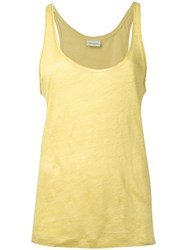By Malene Birger Fanas Tank Women Linen Flax L Yellow Orange