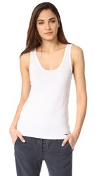 Pam And Gela Scoop Neck Tank White