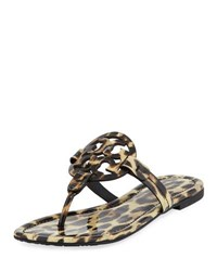 Tory Burch Miller Printed Flat Thong Sandal Leopard