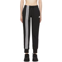 Adidas Originals Black Asymmetric 3 Stripes Lounge Pants
