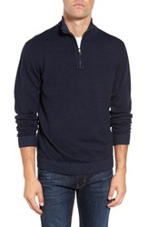 Tailor Vintage Men's Reversible Quarter Zip Sweater Navy Heather