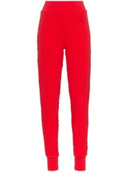 Telfar High Waist Stretch Cotton Trousers Red