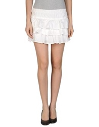 Duck Farm Mini Skirts White