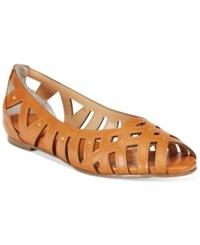 Thalia Sodi Zuly Huarache Ballet Flats Only At Macy's Women's Shoes Cognac