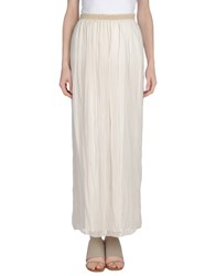 Miss Miss By Valentina Long Skirts Beige