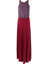 Emannuelle Junqueira Embroidered Details Party Dress Pink And Purple