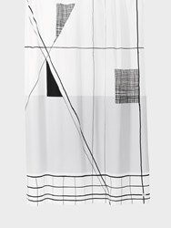 Ferm Living Trace Shower Curtain White