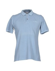 Peuterey Polo Shirts Sky Blue