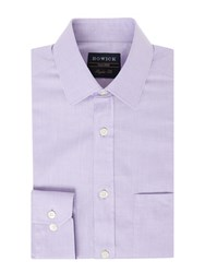 Howick Men's Tailored Canyon Twill Shirt Lilac