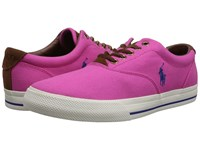 Polo Ralph Lauren Vaughn Madison Pink Canvas Sport Suede Men's Lace Up Casual Shoes
