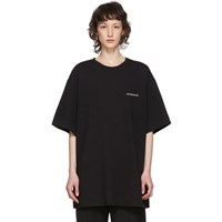 Juun.J Black Module Collection Logo T Shirt