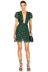 Adriana Degreas Leopard Tulle Mini Dress In Green Animal Print
