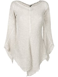 Andrea Ya'aqov Asymmetric Knitted Top Nude And Neutrals