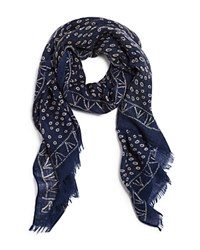 Bloomingdale's The Men's Store At Tribal Dots Scarf Navy Natural