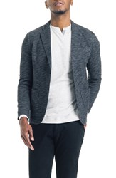 Good Man Brand Slim Fit Vintage Twill Knit Blazer Black Grey Heather